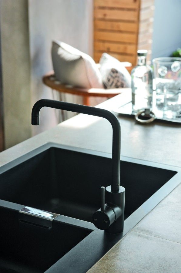 Matte Black Taps | Kitchen mixer, Bathroom inspiration and Corner