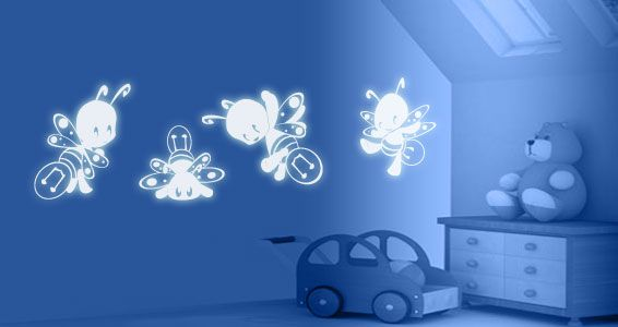 fireflies glow in the dark wall decals | off the wall | pinterest