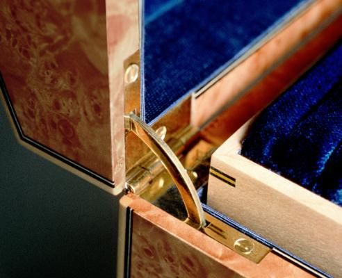 This Box Is Fitted With Polished Brass Lock And Quadrant