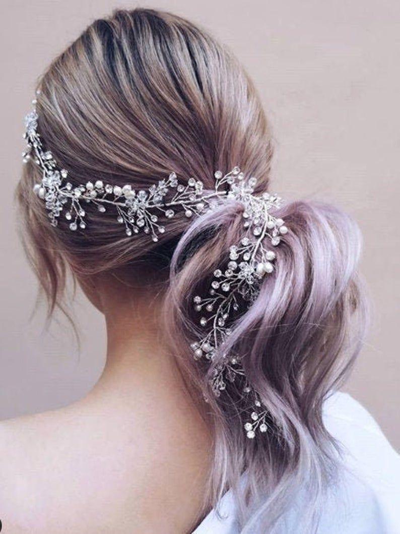 Bridal Hair Accessories Wedding Hair Accessory Delicate Hair Etsy In 2020 Bridal Hair Accessories Bridal Hair Pearl Hair Piece