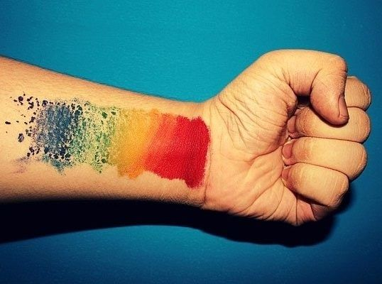Abstract Color Tattoo For Wrist Rainbow Tattoos Wrist