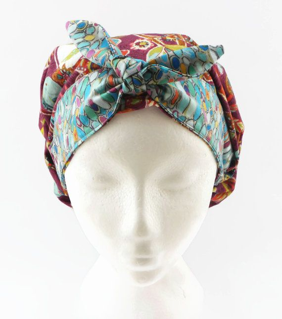 Womens Bouffant Scrub Hat with Bow Scrub Cap by CroweScrubCaps ...