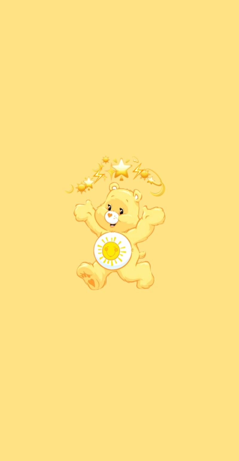 Yellow Care Bear Bear Wallpaper Cartoon Wallpaper Iphone Cute Disney Wallpaper