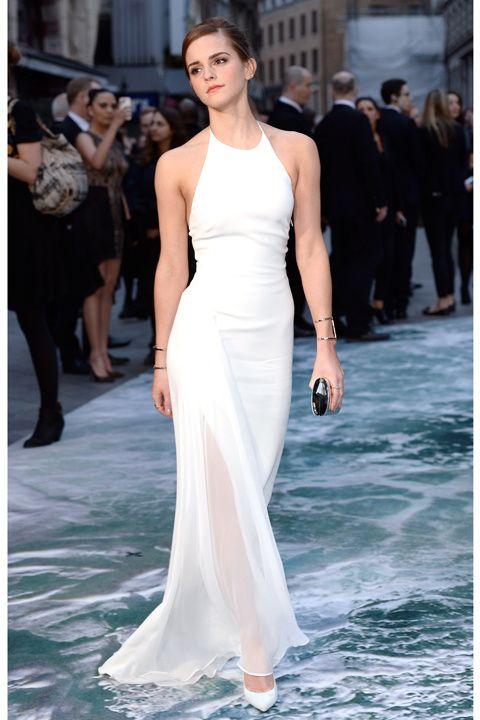 look del día: emma watson nos enseña a llevar un vestido blanco