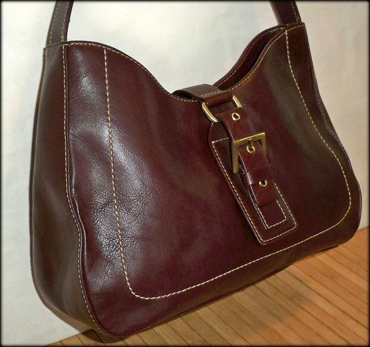 Aigner Leather Buckled Brown Hobo –I love this bag..can't believe it mine!!!