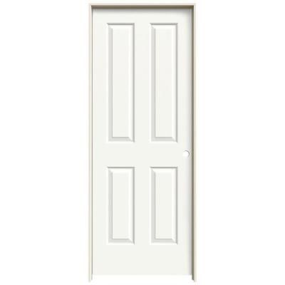 Jeld Wen 24 In X 80 In Coventry White Painted Left Hand Smooth Molded Composite Mdf Single Prehung Interior Door Thdjw136300035 The Home Depot Prehung Interior Doors Doors Interior Prehung Doors