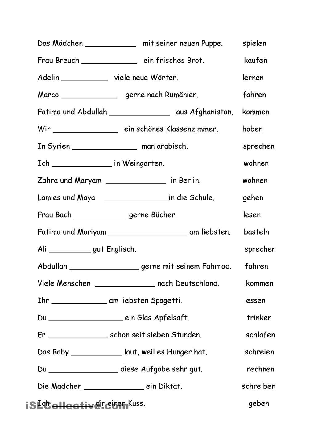 Worksheets Learning German Worksheets konjugationen pinterest german language and konjugationen