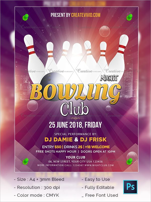 Best Bowling Flyer Download Best Bowling Flyer Download - bowling flyer template free