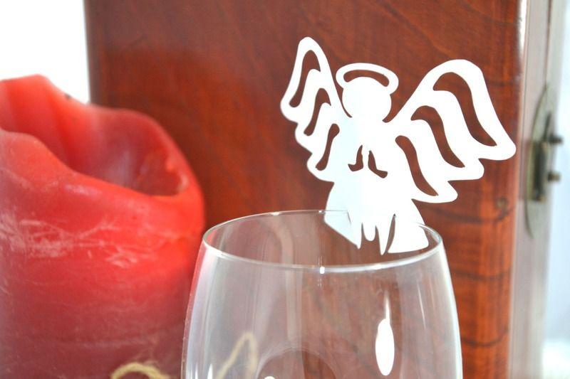 8 Engel als Deko für Gläser von frilly designs auf DaWanda.com
