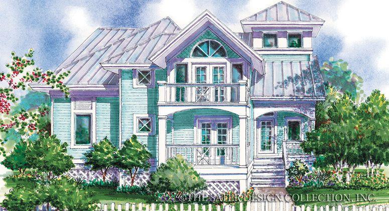 "The Sater Design Collection's luxury, cottage home plan ""Jasmine Lane"" (Plan #6680). saterdesign.com"