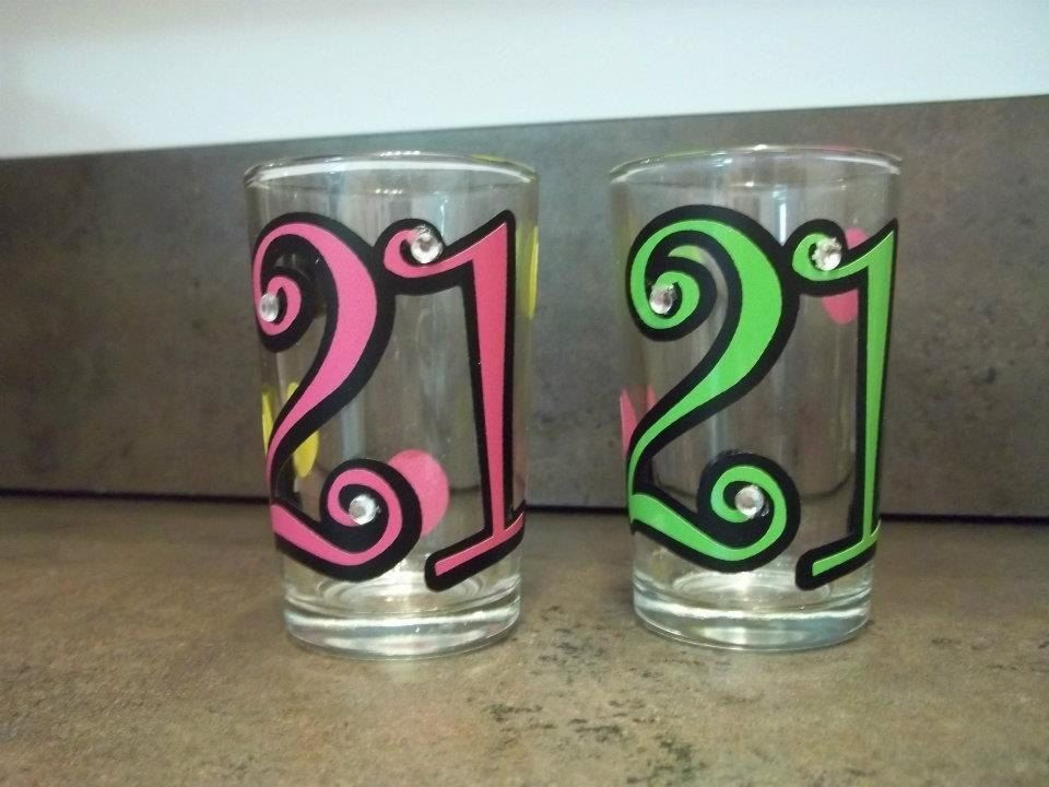 21st Birthday Shot Glass Birthday Shots Birthday Shot Glasses