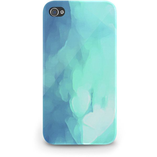 Blue Abstract Watercolor - Hard Cover Case iPhone 5 4 4S 3 3GS iPod... ($23) ❤ liked on Polyvore featuring accessories, tech accessories, phone cases, phones, case, iphone, prepaid smartphones, galaxy smartphone, samsung galaxy smartphone and blackberry smartphone