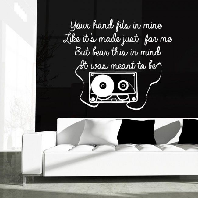 One Direction Wall Sticker Little Things Wall Art | Song Lyric Wall ...