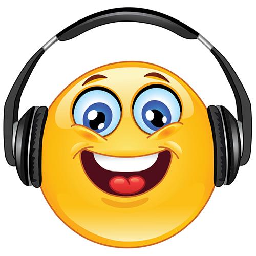 Smiley Listening to Music Emoticon, Smiley, Emoticon faces