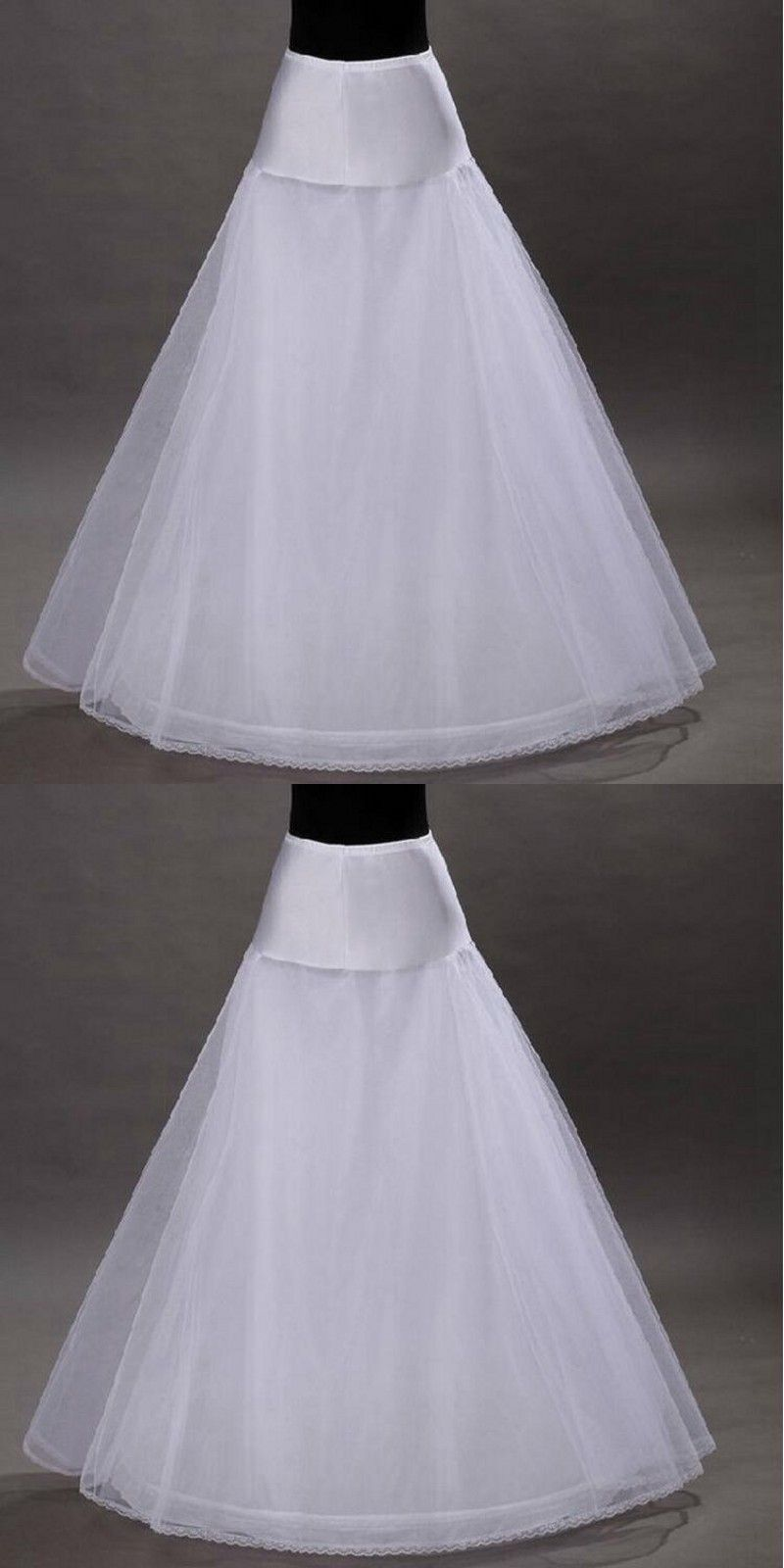 A Line Tulle Petticoat Black White Wedding Bridal Petticoat ...