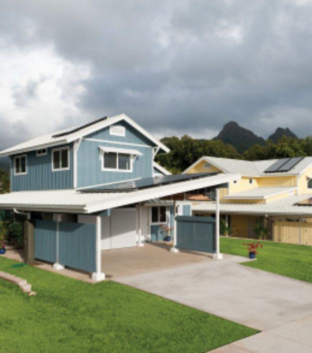 Kumuhau, Waimanalo, ile d\u0027Oahu Cette maison est dotée de panneaux