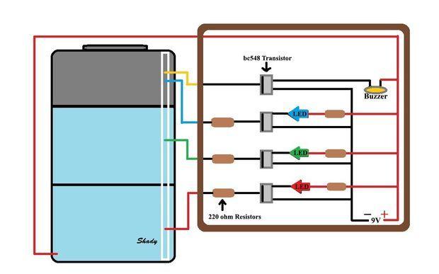 water level indicator circuit diagram with alarm pdf