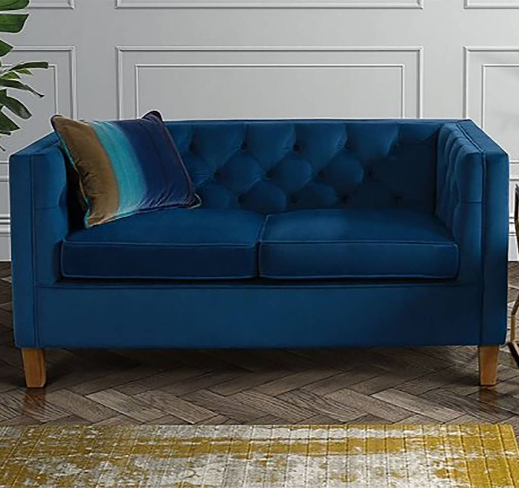 Are You Interested In Our Velvet Two Seater Sofa With Chesterfield For Living