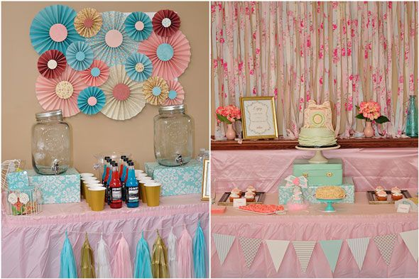 Vintage Rose Garden First Birthday Party Birthday party ideas and