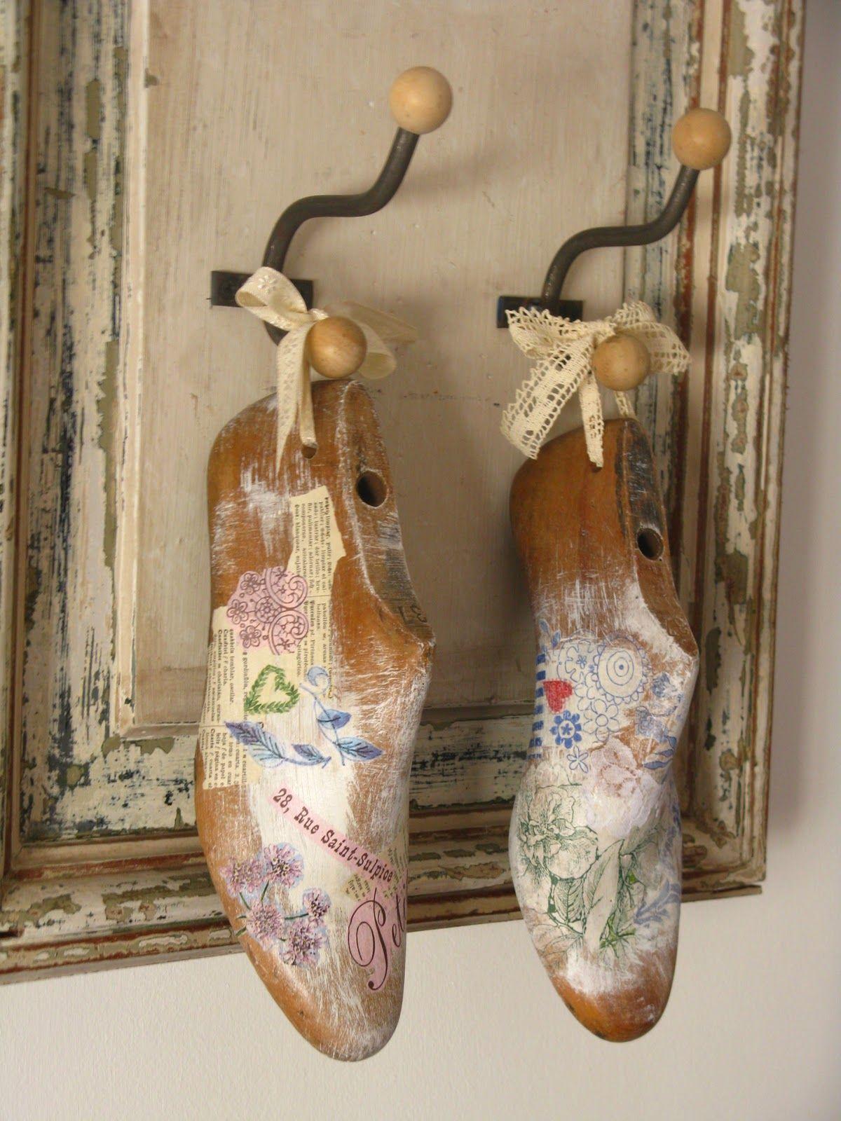 Reciclado con hormas de zapatos buscar con google - Cajas de zapatos decoradas ...