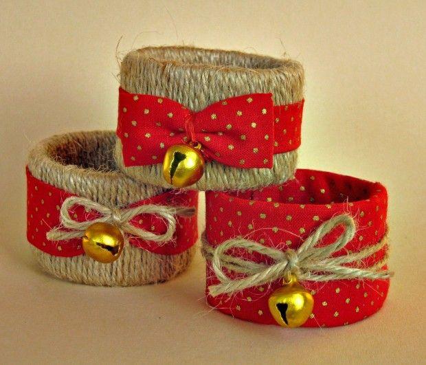 Cómo hacer servilleteros de Navidad con tubos de cartón