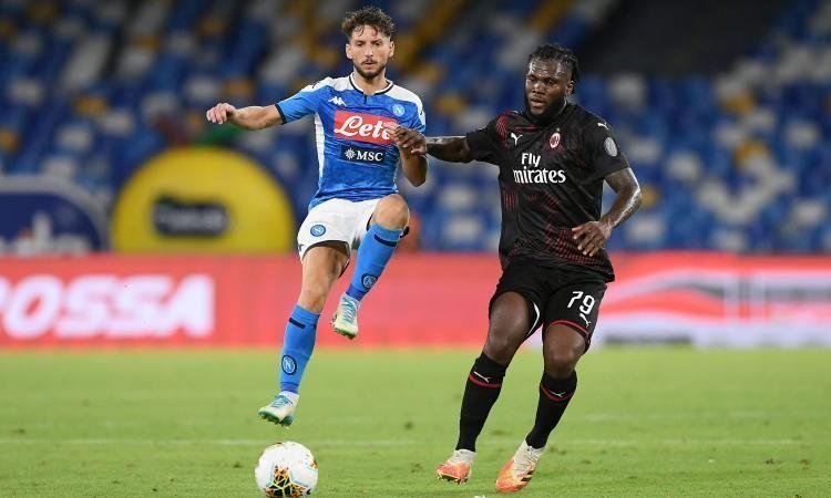 Kessie Catches Mertens Ac Milan Keep In Ten 2 2 In Naples A League League Ac Milan Milan
