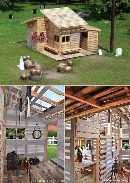 Una Casa Construida Con Palés Pales Como Hacer Casas Como Construir Una Casa