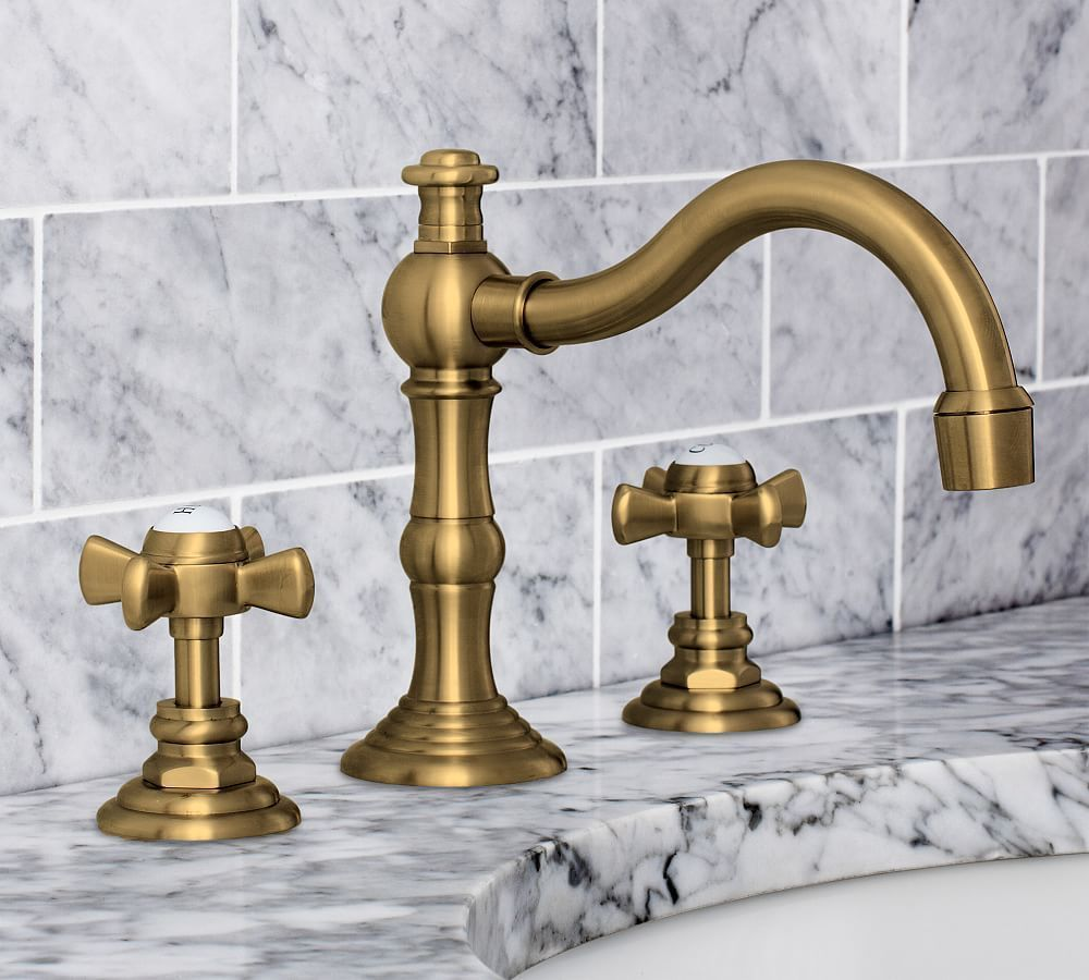 Langford Cross Handle Widespread Bathroom Faucet Brass Finish Remodeling Bathroom Faucets Widespread Bathroom Faucet Diy Bathroom Design