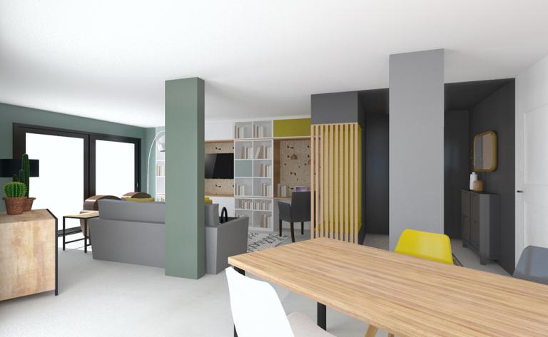 Réalisation Vert cactus Décoration maison, Architecte