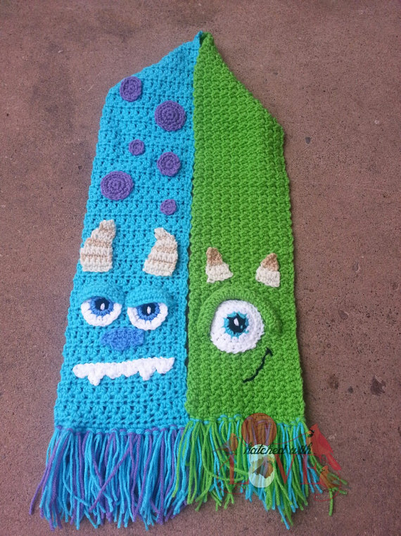 Crochet Monster Scarf   Yarn/string crafting   Pinterest   Bufandas ...