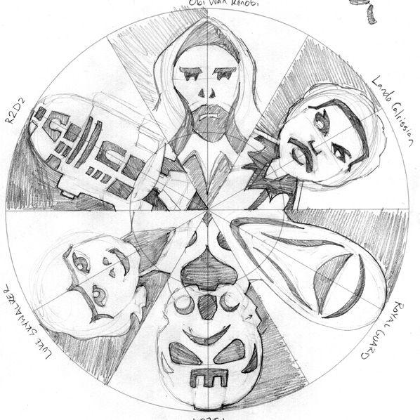 Star Wars snowflake sketches. Check it out at AnthonyHerreradesigns ...