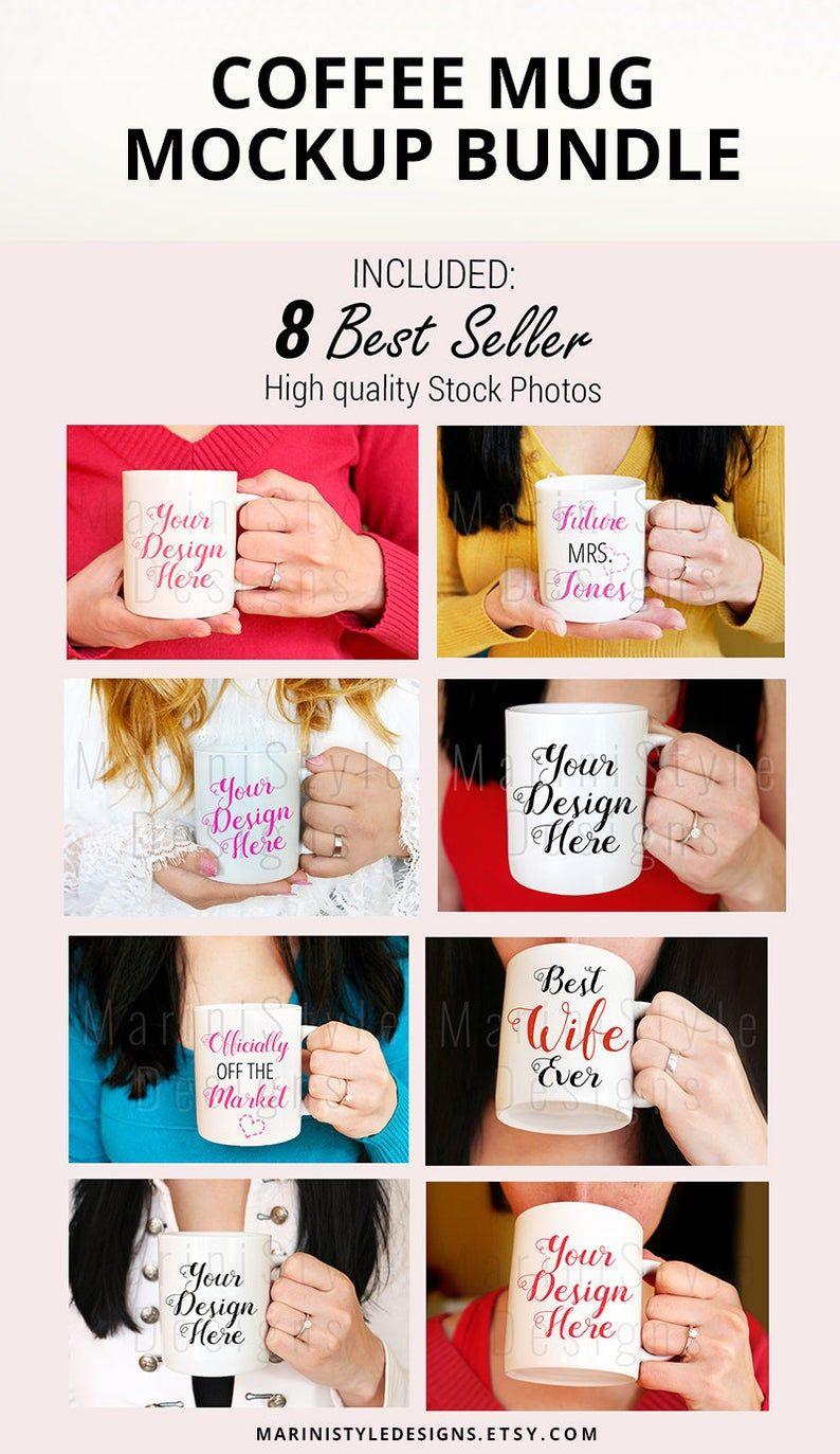 Woman holding Mug Mockup, Mug Mockups with Woman, Stock Photo BUNDLE, Female hands holding coffee mug, Coffee cup Stock Photo Mockup, 914 #custommugs