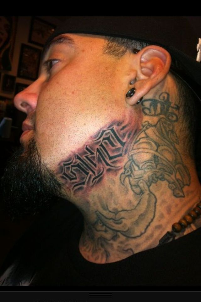 Big Gus Neck Tattoo 5150 Tattoos Neck Tattoo Tattoo Artists