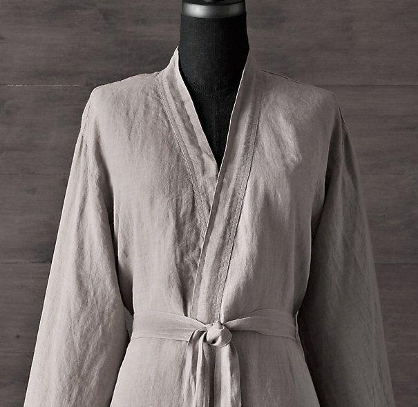 Stonewashed Belgian Linen Robe