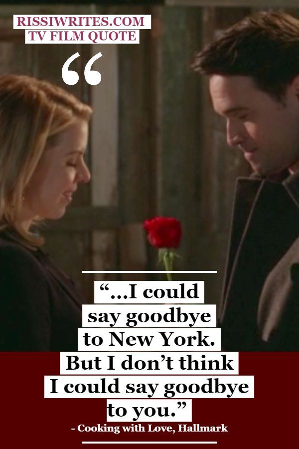 """Photo of """"….I could say goodbye to New York. But I don't think I could say goodbye to you."""""""