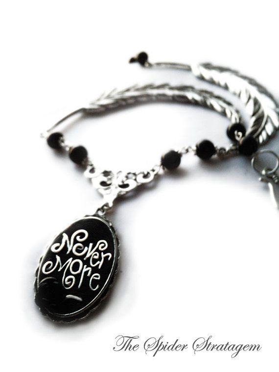 Gothic victorian necklace 'The raven' edgar by SpiderStratagem, €20.00
