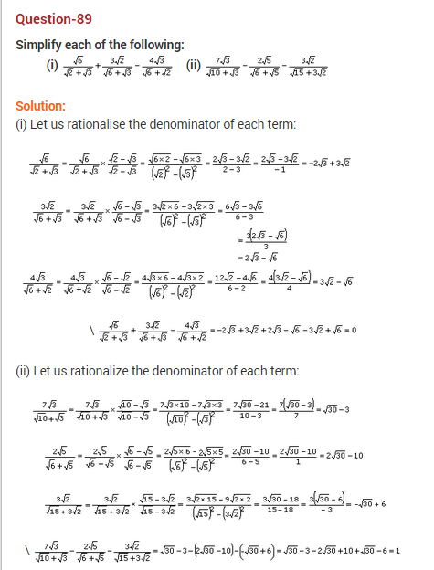 Number System Ncert Extra Questions For Class 9 Maths Math This Or That Questions Number System