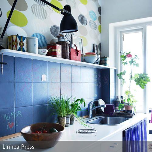 Vorhang unter der Spüle | Das zuhause, Vorhänge und Küche farbe
