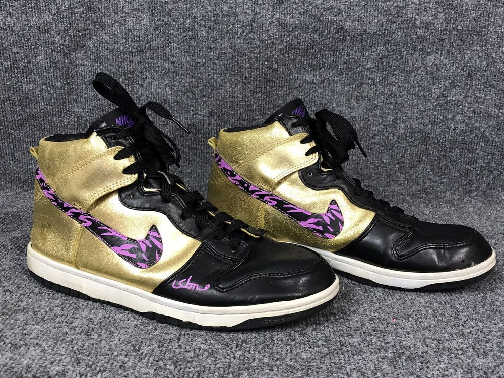 buy popular a36f6 2e371 Purple Black Gold Mens Nike Dunk High SBTG x Lazy x Spreething Basketball  Sz 12  eBay