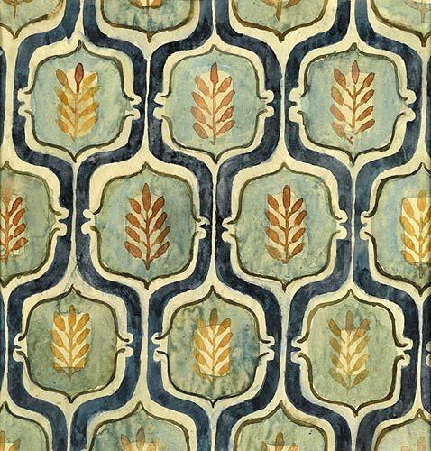 textile design by elisabeth vellacott (An Indian Summer Likes..)
