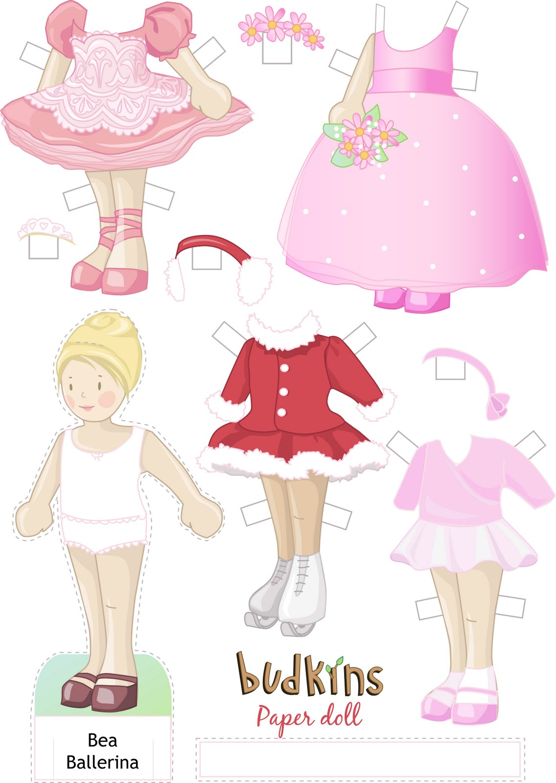 Bea Budkins Paper Doll