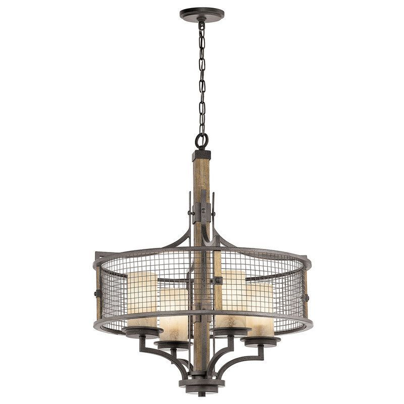 View the kichler 43582 ahrendale chandelier with 4 lights 24 inches wide at lightingdirect loft lightingisland