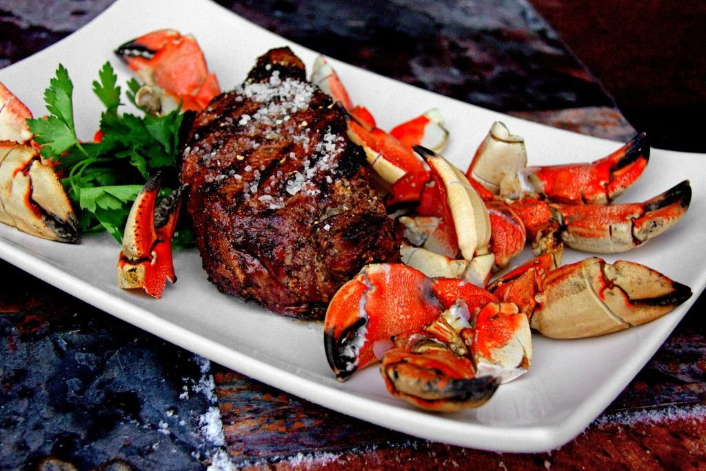 Valentine's Date Night - Grilled T-Bone Turf and Crab Claw Surf | A Bachelor and His Grill
