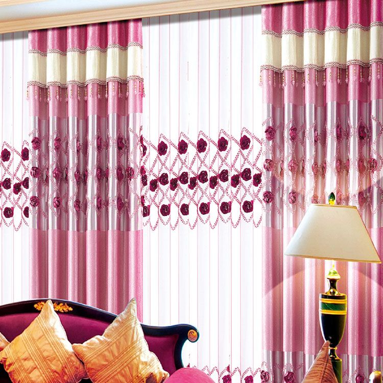 2016 Hot Sale Flame Retardent Luxury Fold Curtain Styles