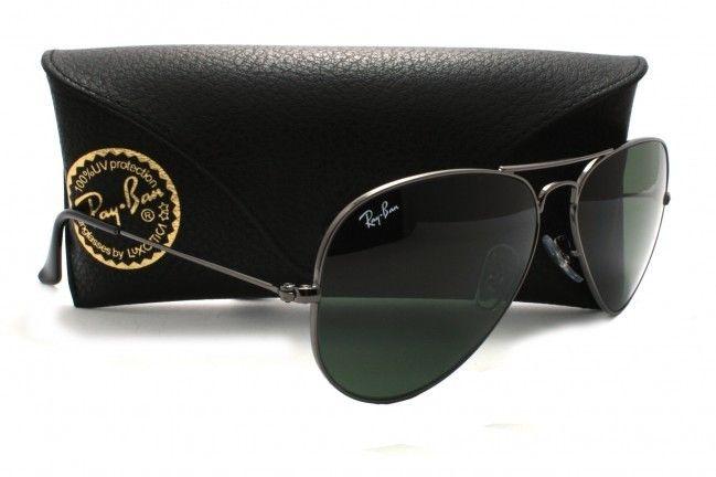 Óculos de Sol Ray-Ban Aviador Preto R 99,00 + Frete Grátis   threat ... a57f73ac3c