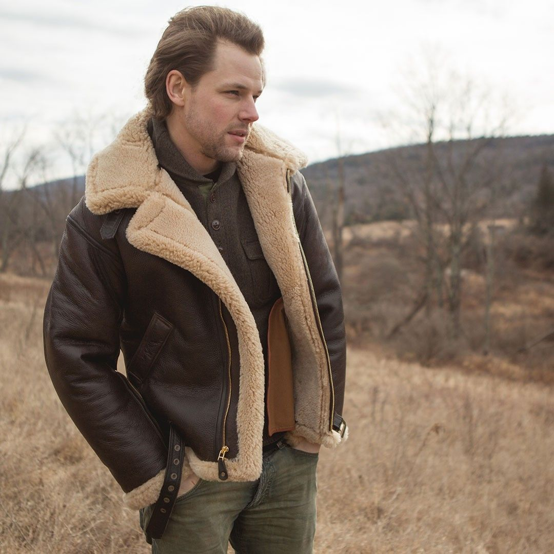 a32809e6ab9 Outfits   Style Tips  Shearling Coat Tom Hardy Style