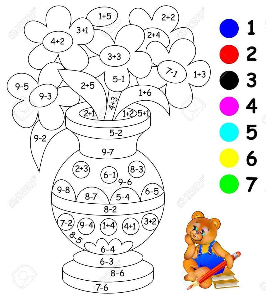 Pin By Renee Spangler On Osszeadas 10 Ig Szinezo Math Coloring Worksheets Kids Math Worksheets Math Coloring [ 960 x 856 Pixel ]