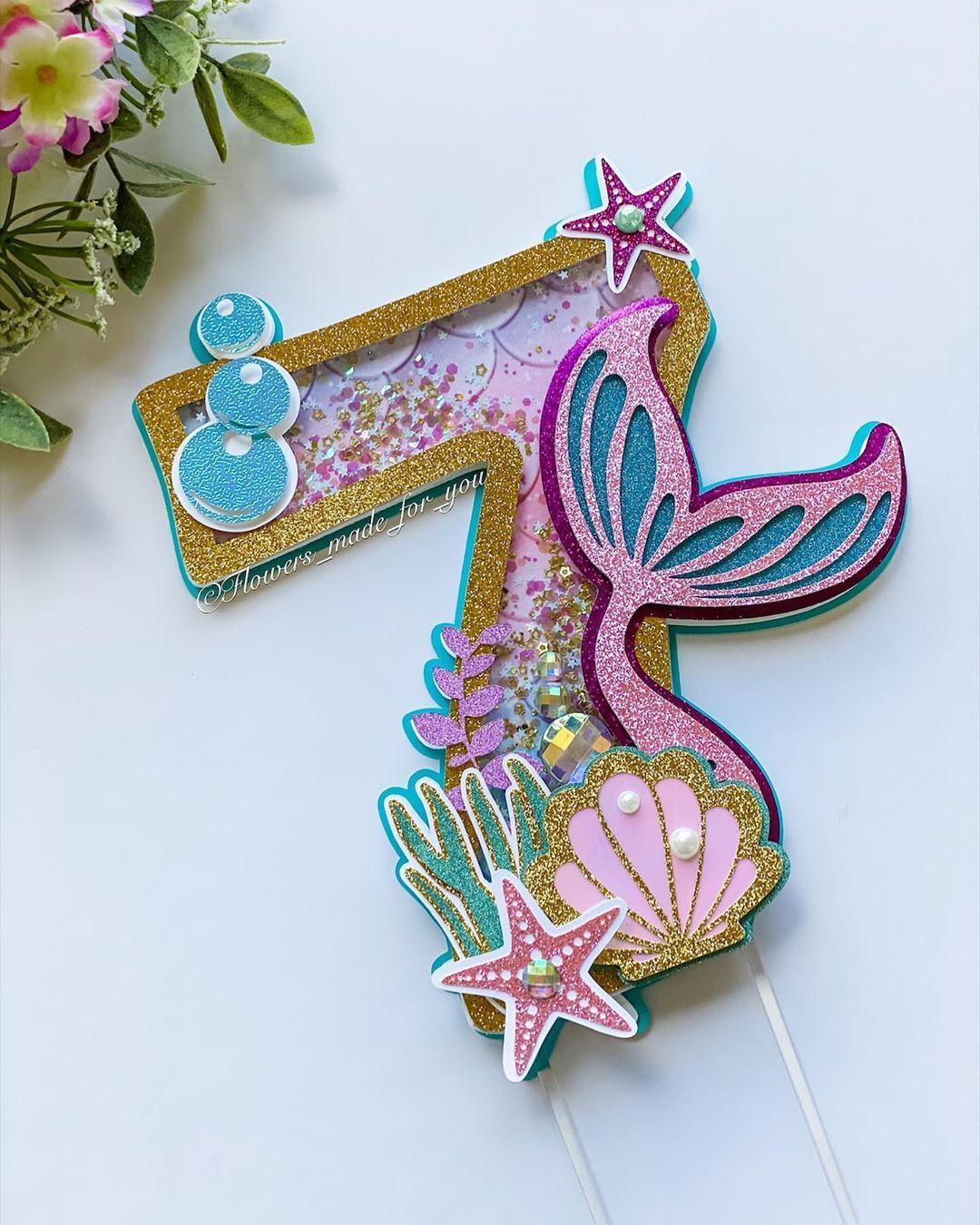Carolina alzate on instagram mermaid cake topper