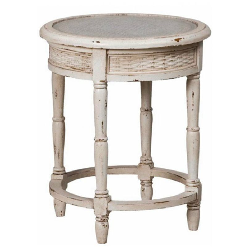 Coastal Round Side Table Round Side Table Side Table Painted