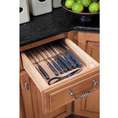 Waypoint knife organizer-we install these! Kitchen Cabinet